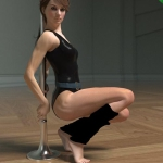 Fitness Pole Dance Poses and Prop for Genesis 2 Female(s)