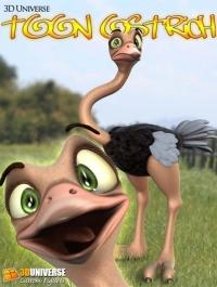 3D Universe Toon Ostrich