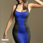 2Tone Dress for Genesis 3 Female(s)