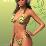 Milena's Bikini for Genesis 2 Female(s)