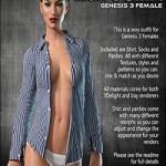 Exnem Man Shirt for G3 Females by exnem