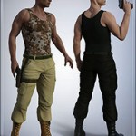Tactical Pants for Genesis 3 Male(s)