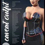 i13 CAVEAT OUTFIT for the Genesis 3 Female(s) by ironman13
