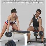 FM Gym Poses Dumbbells & Barbells