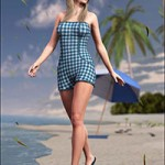 Strapless Romper for Genesis 2 Female(s)