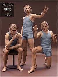 Z Volatile Poses for Lucian 7 & Genesis 3 Male