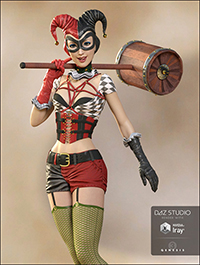 Lady Jester Outfit for Genesis 3 Female(s)