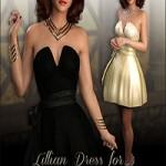 Lillian Dress For Genesis 3 Female by WildDesigns