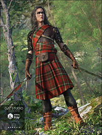 Highlander Outfit for Genesis 3 Male(s)