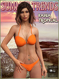 Bahia Tropical Outfit for Genesis 3 Female(s)