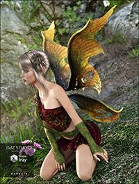 Dark Fairy Wings for Genesis 3 Female(s)
