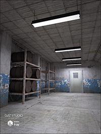 Old Industrial Hallway