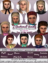 Z Emotional Variety Expressions - G2F-V6 by Zeddicuss