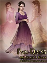 Pan Dress for Genesis 3 Female by KarenGrant