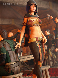 Gypsy Outfit for Genesis 2 Female(s)