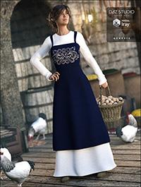 Peasant Dress for Genesis 3 Female(s)