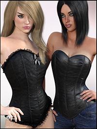 Steel Boned Corset for Genesis 3 Female(s)