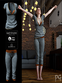 Laid-Back Outfit for G3F by PsychoGinger