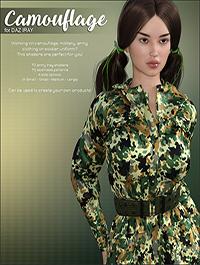 DAZ Iray - Camouflage by Atenais
