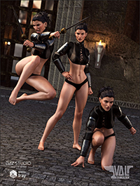 She Warrior - Action Poses and Expressions for Genesis 8 Female(s)