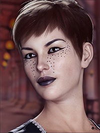 Extreme Closeup: Smokey Rebel Makeup for Genesis 3 and 8 Female(s)