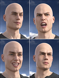 Faces of a Man - Expressions for Michael 8