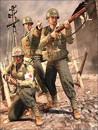 World War II U.S. Uniform HD for Genesis 8 Male(s)