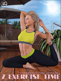 Z Exercise Time - Poses for Genesis 8 Female and Victoria 8