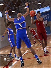 Basketball Poses for Genesis 3 Males