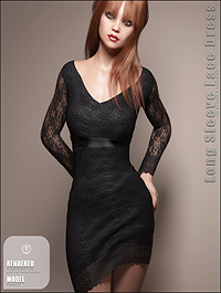 Long Sleeve Lace Dress for Genesis 8 Female(s) by outoftouch