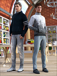High Neck Sweatshirt Outfit Textures