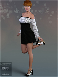 dForce Mary Jane Outfit for Genesis 8 Female(s)