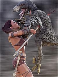 Dinosaur Queen Poses for Genesis 8 Female