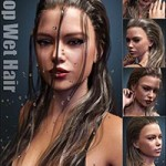 Drop Wet Hair for Genesis 3 Female(s)