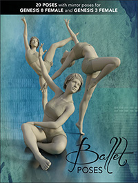 Ballet Poses for Genesis 3 and 8 Female(s)