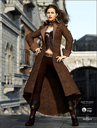 Regal Captain Outfit for Genesis 8 Female(s)