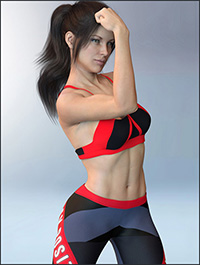 X-Fashion Activewear 02 Outfit for Genesis 8 Female(s)