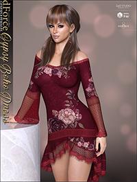 dForce Gyspy Boho Dress for Genesis 8 Females by lilflame