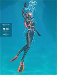 High Tech Scuba Diver for Genesis 8 Female(s)