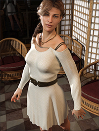 dForce Open Shoulder Dress for Genesis 8 Female(s)