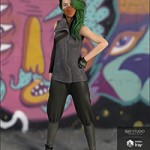 Fearless Action Outfit for Genesis 8 Female(s)
