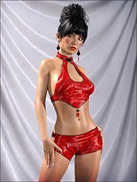 Kaori Outfit for Genesis 3 Female(s)