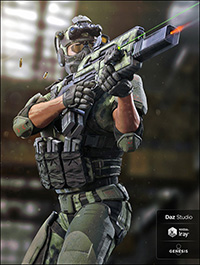 Tactical Assault Rifle & Add-ons for Tactical Assault Outfit