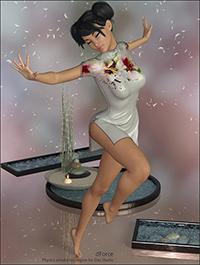 dForce Yumi Dress for Genesis 8 Female(s)