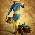 dForce Vietnamese Street Trader Outfit for Genesis 8 Female(s)
