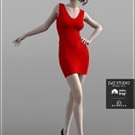 Short Tight Dress for Genesis 3 Female(s)