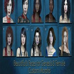 Beautiful faces for G8 pack by bu_es