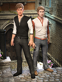 Henley Shirt and Jeans Outfit Textures