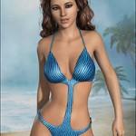 Cosmopolitan Swimsuit for Genesis 2 Female(s)