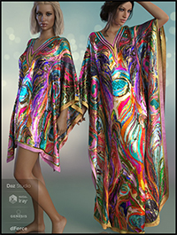 dForce Kaftans for Genesis 8 Female(s)